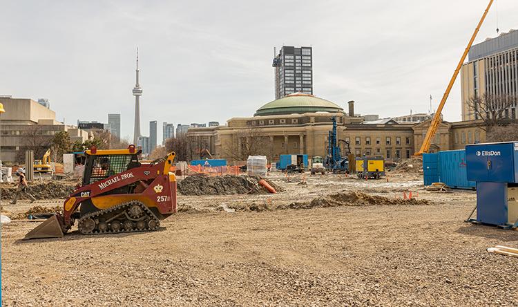 Construction in progress on the Landmark Project.