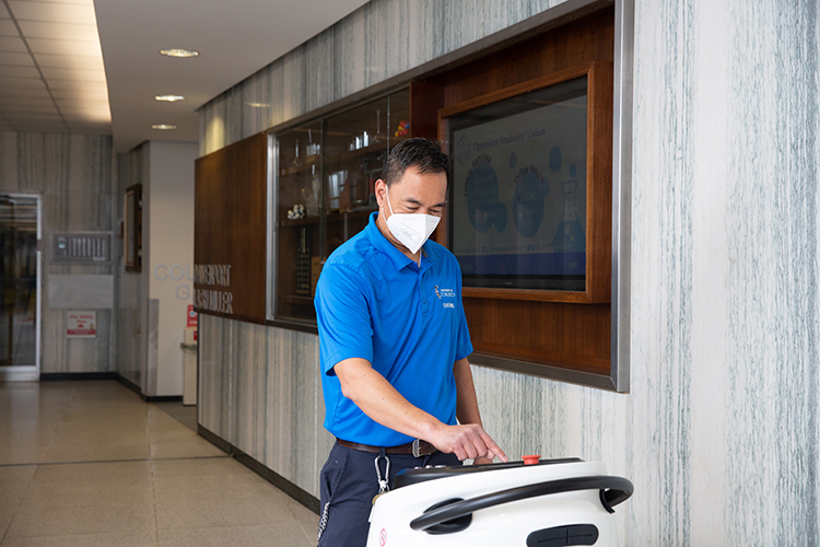 Cleaning robots: helping F&S work smarter